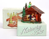 Vintage Christmas*Vintage Nativity Set*Manger Scene*Plastic Miniature*Dime Store Christmas