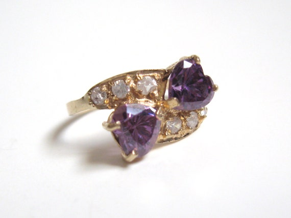 NOUVEAU Vintage 1k Gold Diamond & Amethyst by CovetedCastoffs