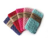 WASHCLOTH - 100% COTTON, stocking stuffer, hostess gift, crochet washcloth, handmade washcloth, wash cloth,