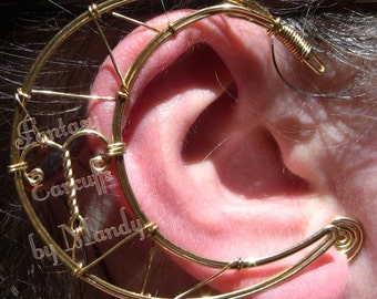 Celestial Zodiac Earcuffs (in Gold-Tone Wire)