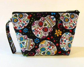 Calavera Make Up Bag - Sugar Skulls - Accessory - Cosmetic Bag