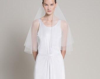 Tulle Wedding Vail, Simple Wedding Dress Vail, Simple Vail, Beach Wedding Vail, Short Vail, Wedding Accessories
