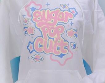 Sugar Pop Cult Starry Planets Hoodie Hooded Sweatshirt Fairy Kei Pastel Goth