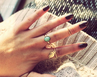 Dainty Turquoise Ring, Turquoise Ring, Turquoise Jewelry, Festival Jewelry, Concert Accessories, Hipster jewelry