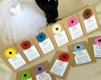 Wildly in Love Personalized Wild Flower Seed Wedding Favor