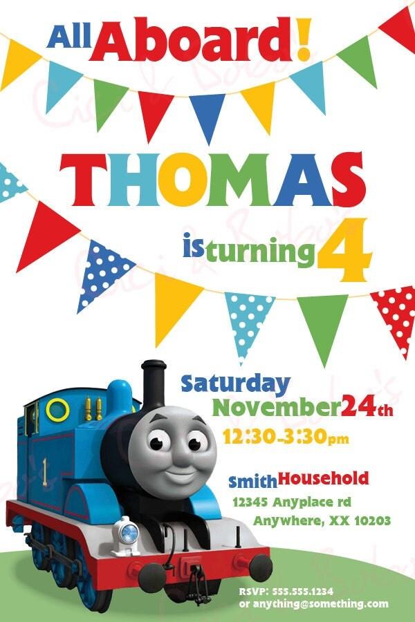 Thomas Party Invitations as great invitation ideas