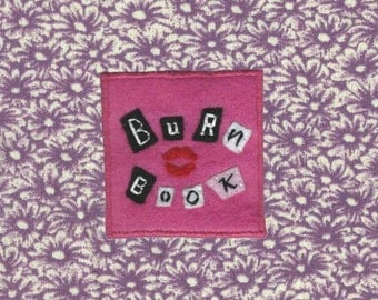 Handmade Burn Book patch