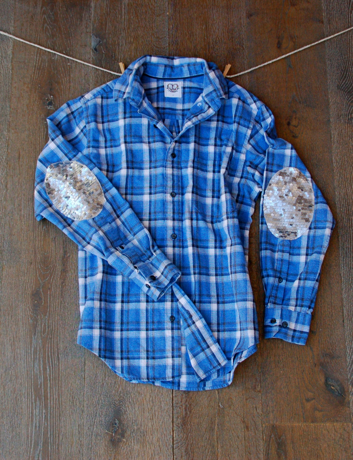 Sequin flannel shirt with sequin elbow patch boyfriend flannel for Mens flannel shirt with elbow patches
