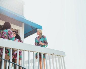 Bridesmaid robes, kimono crossover, bridesmaids gift, handmade, floral, bridal shower, wedding.