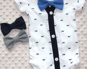 CLEARANCE - Baby Cardigan and Bow Tie Set, Smash Cake Outfit, Baby Bowtie One Piece Bodysuit, Bow Tie Bodysuit, Baby Bodysuit, Photo Prop