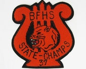 Vintage BFHS Chorus State Champs Chenille School Patch 1930's