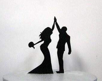 Wedding Cake Topper - High Five 2