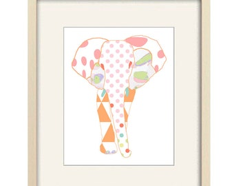 elephant nursery wall art, baby nursery decor, elephant print, elephant decor, baby girl nursery, jungle nursery art baby decor elephant art