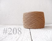 Linen crochet knitting weaving thread  - sand  color # 208