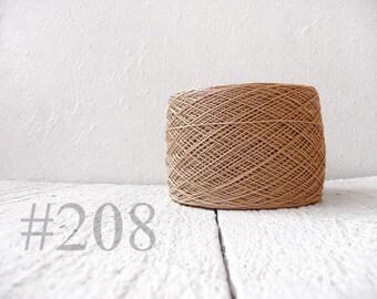Linen crochet knitting weaving thread  - sand  color # 208
