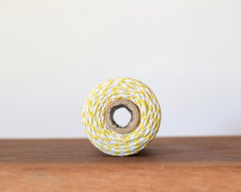 Bakers Twine - 10 Metres, Yellow and White