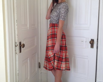 Plaid Pendleton Skirt