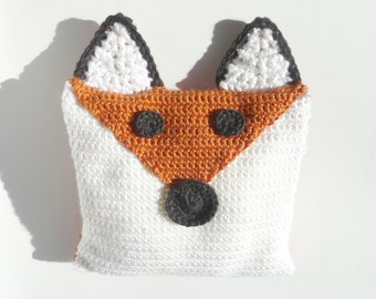 Fox Pillow CROCHET PATTERN Fox Decor Fox Decorations Fox Cushion Fox Plush Orange Woodland Nursery Forest Animal Gift Animal Throw Pillow