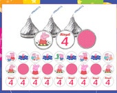 324 set Peppa Pig personalized Hershey kisses labels Great for birthday party favors bag fillers treat