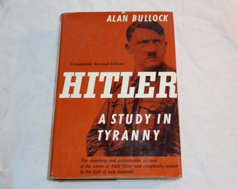 "Vintage History Hardcover, ""Hitler: A Study in Tyranny"" by Alan Bullock, 1962 Revised Edition."