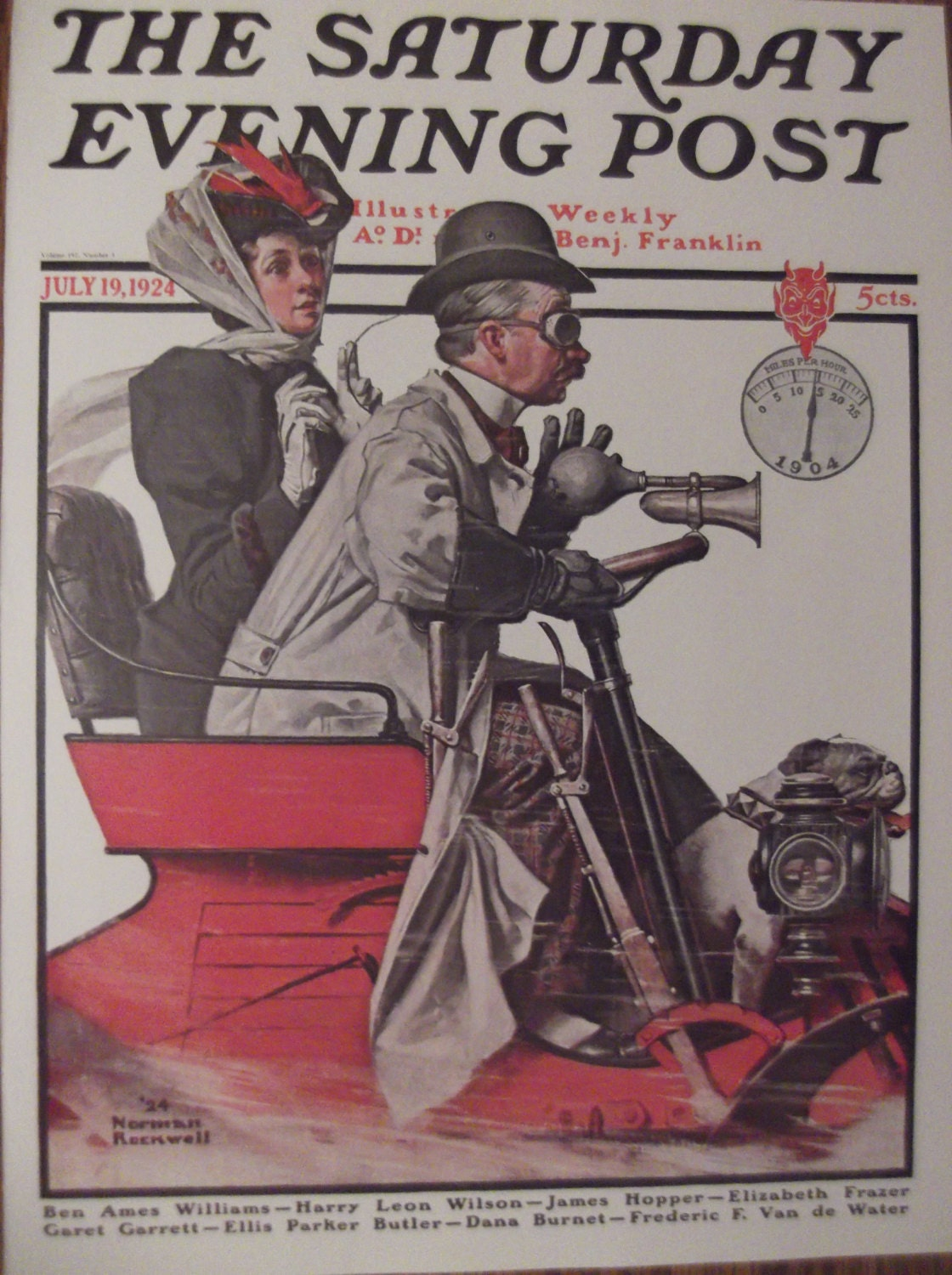 SPEEDING ALONG By Norman Rockwell Reproduction Print Christmas ...
