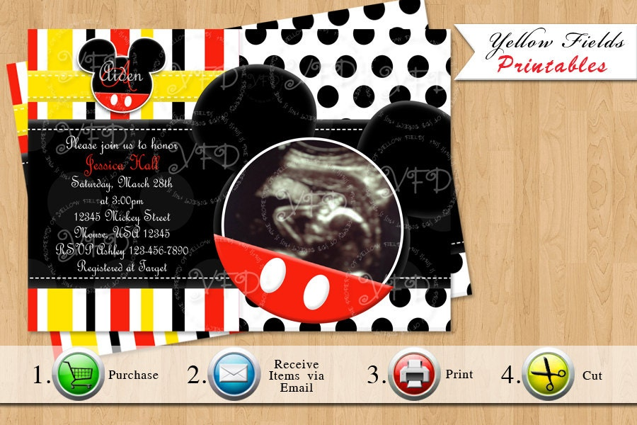 mickey mouse baby shower invitation mickey mouse baby shower