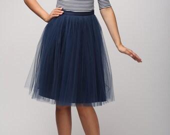 Blue tulle skirt, Light tulle skirt, Handmade tutu skirt, Adult tulle skirt, Adult tutu skirt, Tulle petticoat