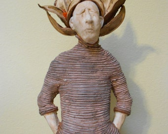 Casting the Seed: One of a Kind Handmade Stoneware Sculpture