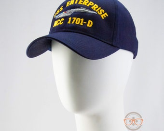 "Star Trek TNG Naval ""USS Enterprise"" Inspired - Embroidered Baseball Hat or Cap"