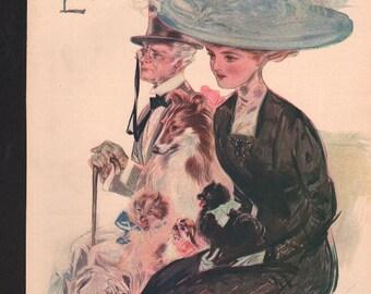 Vintage Magazine Cover, Life  September 9, 1909  (336)