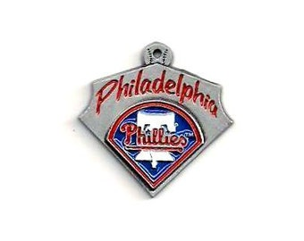 MLB™ Charm: Philadelphia Phillies Baseball Pendant, 23x21mm, Baseball Charm, Sports Pendant, MLB034