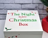 Hand Painted Christmas Eve Treat Box