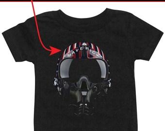 "Personalized Top Gun ""Maverick"" Helmet T-shirt"