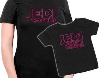 Matching Jedi Master Mother/Daughter t-shirt