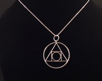 Squaring the Circle Pendant in Solid Argentium Sterling Silver