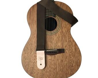"Brown Lightweight Poly Guitar Strap - 2"""