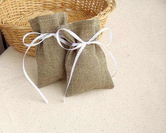 Wedding Gift Bags Burlap : Burlap Favor BagSET OF 10, Wedding Gift Bag, Candy Bag3 ? 4