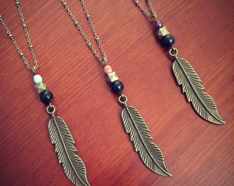 The Condor // Feather Necklace // Layering Necklace // Tribal Necklace // Boho Necklace // Native American Necklace // Hippie Necklace