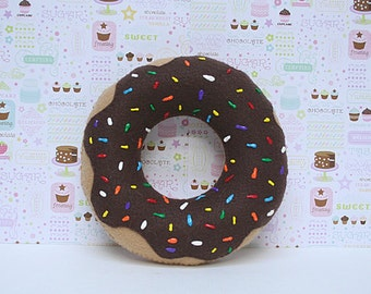 Doughnut Pillow,Food Pillow, Machine Washable Toy, Friend Gift, Decorative Pillow, Hand Sewn