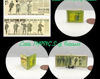 1906 SEARS CATALOG Miniature Victorian Book Dollhouse 1:12 Scale Illustrated Readable Book