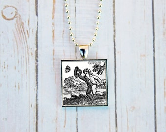 Chasing Butterflies Necklace, Toile Necklace, Toile Jewelry, Chasing Butterflies, Go For It, Gift Under 15
