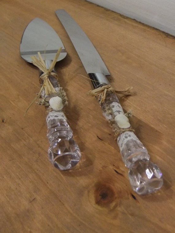 beach theme wedding cake serving set wedding cake knife and server set rustic by 11164