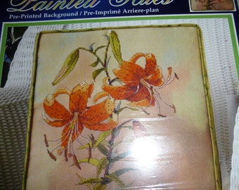 Janlynn Painted Hues Tiger Lilly Counted Cross Stitch Pillow Kit