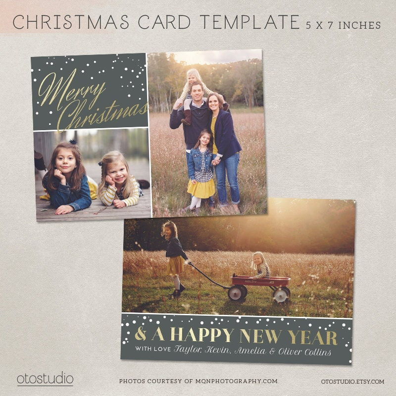 For christmas free card templates photographers