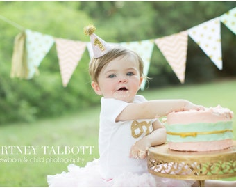 Birthday Hat, 1st Birthday, First Birthday Hat Girl, Party Hats, 1st Birthday Hat Girl, 1st Birthday Hat
