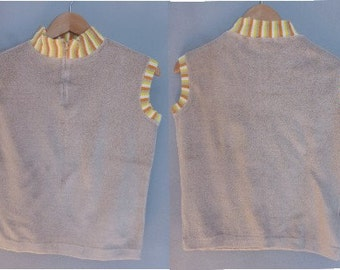 1970s terry tank tops. M size. Vintage dead stock, available two items one blue & one in beige. Made in Greece. In perfect condition.