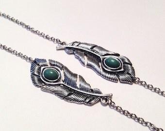 Silver Bracelet, Feather Bracelet, Charm Bracelet, Jade Bracelet, Statement Bracelet, Stackable Bracelet, Dainty Bracelet, Everyday Bracelet