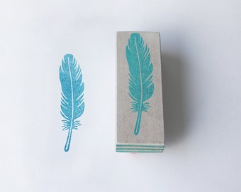 Feather stamp, handmade