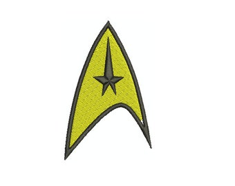 Machine Embroidery Design Instant Download - Star Trek Original Series Command Insignia
