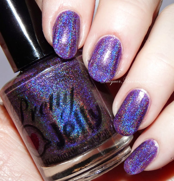 Nail Polish, Holographic Nail Lacquer, Holo Nails, Indie